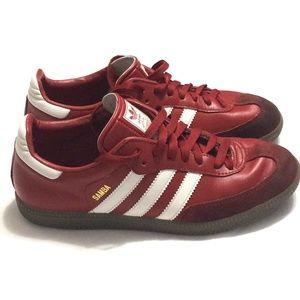 Adidas Samba Red & White Sneakers